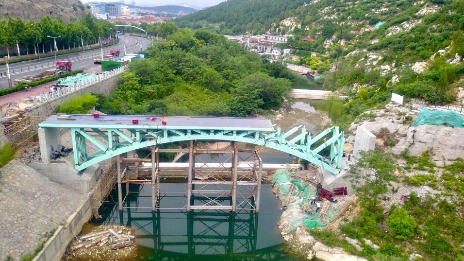 历阳湖两座新建景观桥已初具规模