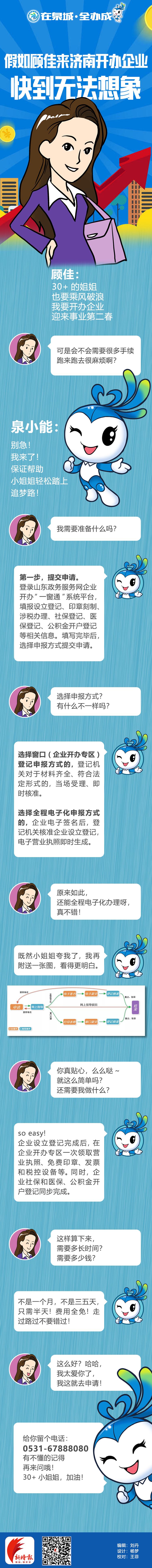 漫画:假如顾佳来济南开办企业......