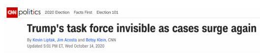 美疫情数字继续蹿升,白宫疫情应对工作组却已名存实亡