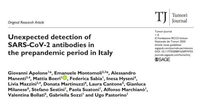 热点|意大利去年9月或已有新冠病毒!钟南山公布一个新数字