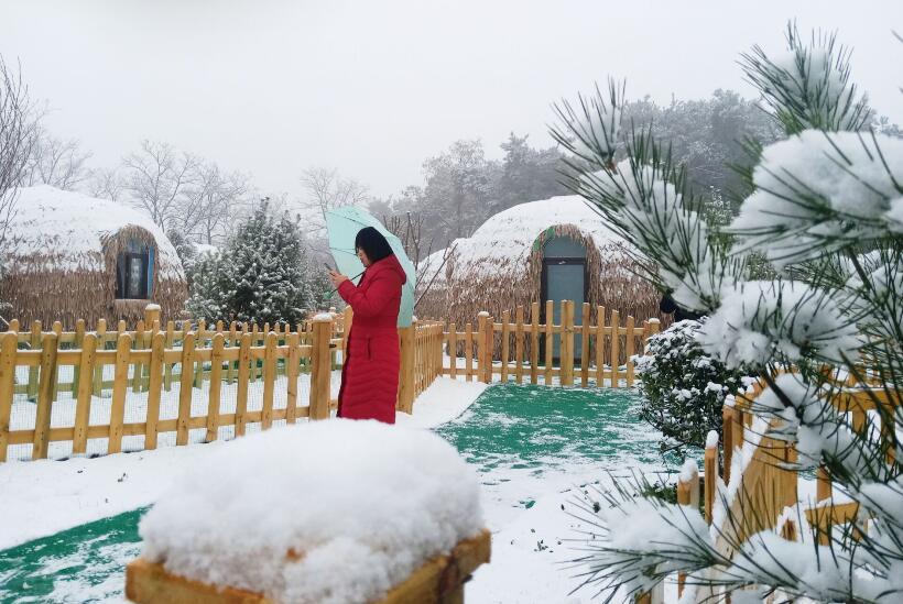 济南迎来今冬首场降雪