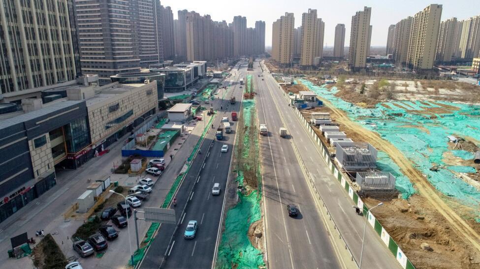 刘长山路最后一段瓶颈路打通 全线实现双向六车道
