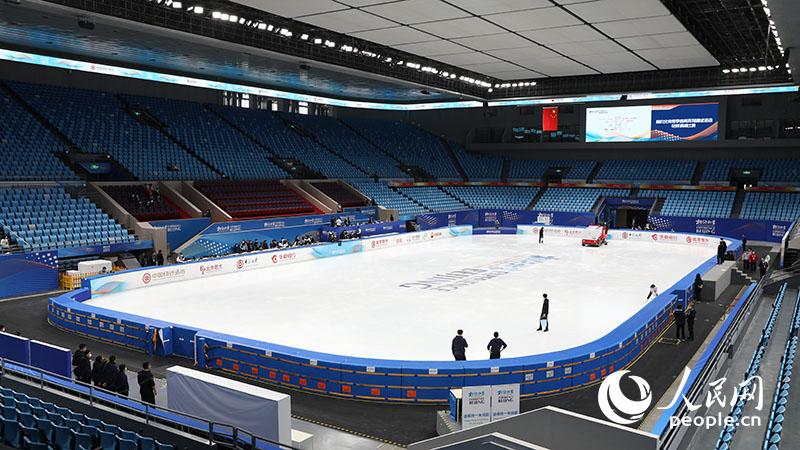 首都體育館進行冰上項目場地轉換測試