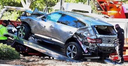 伍兹车祸因严重超速 伍兹受重伤腿部顾骨折