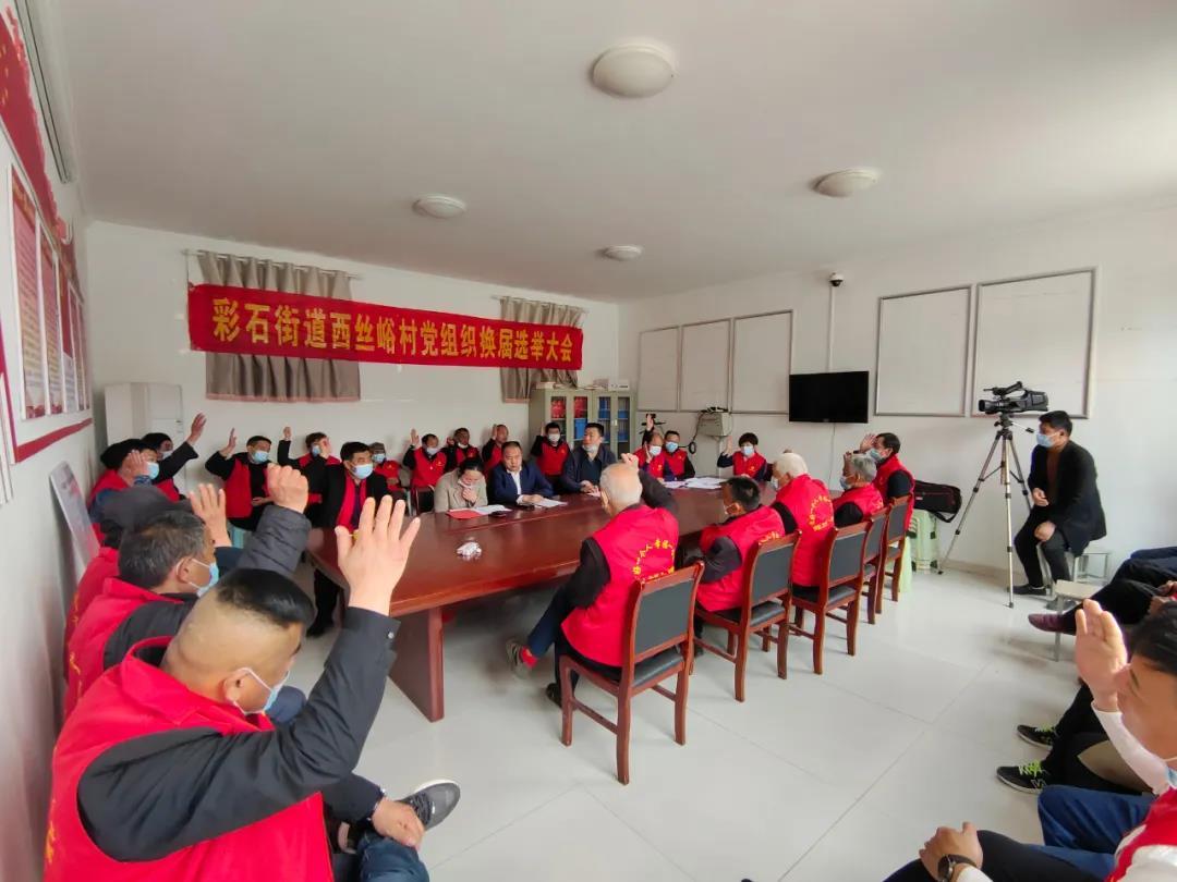 彩石街道:西丝峪村、杏峪村、葫芦套村顺利完成党组织换届选举工作