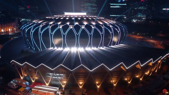 唯美震撼 东荷体育场夜景来袭