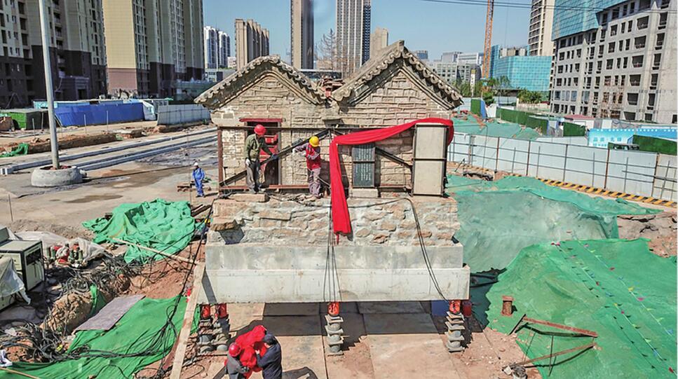 明代老建筑搬家上演现实版飞屋环游记