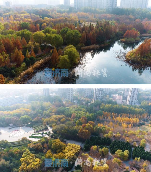 济南森林公园风景如画,如置身五彩童话世界