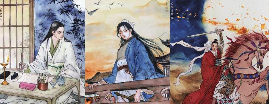 """辛棄疾881周年誕辰——一位濟南姑娘為""""詞中之龍""""作12幅青年肖像畫"""