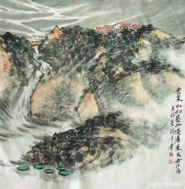 著名国画家安龙海山水画作品欣赏