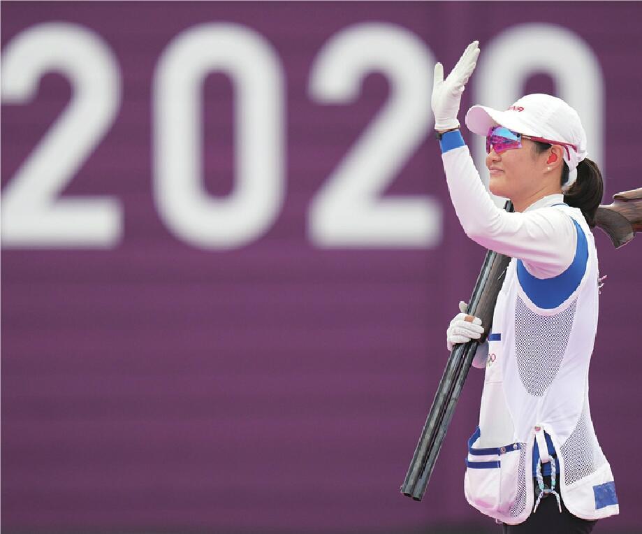 夺得射击女子双向飞碟铜牌魏萌赛后说:如再次参加奥运会争取换个奖牌颜色