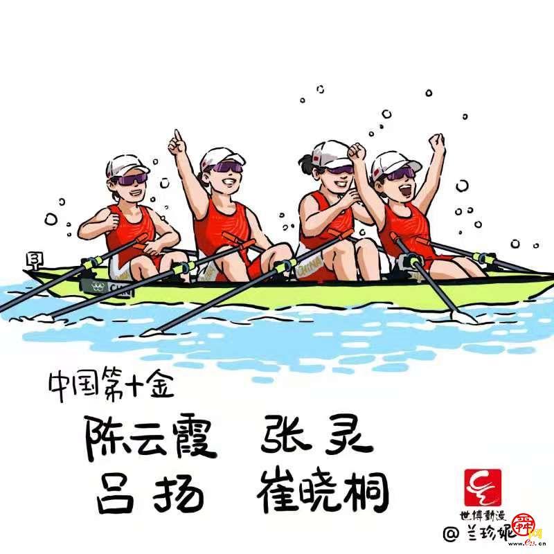 济南听障漫画师兰珍妮手绘《漫画奥运·中国荣耀》系列漫画走红网络