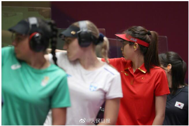 祝贺!肖嘉芮萱获得女子25米运动手枪铜牌