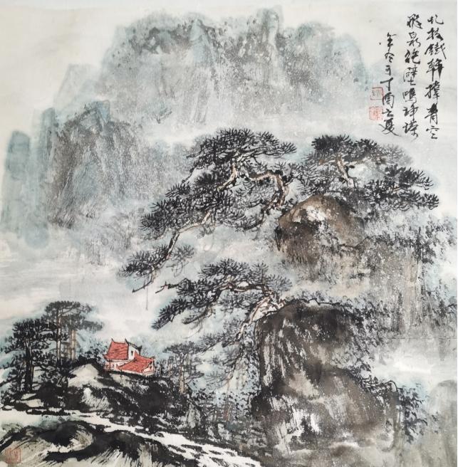 夏日荷风——中国书画小品七人展开幕