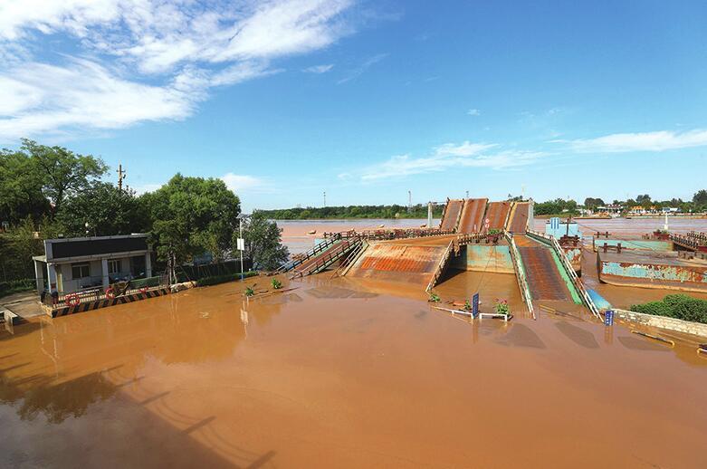 黄河济南泺口段水位明显回落 流量降至2850立方米/秒