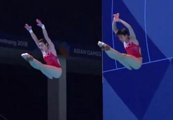 中国女子跳水夺金