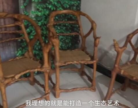17年的等待!老农耗时17年种出椅子树 亮相广州博览会标价38万