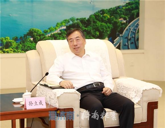 孙立成会见中国建材集团客人