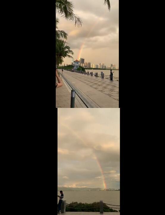【超级彩虹】深圳连到香港的彩虹刷爆朋友圈 快来领取今日份小幸运