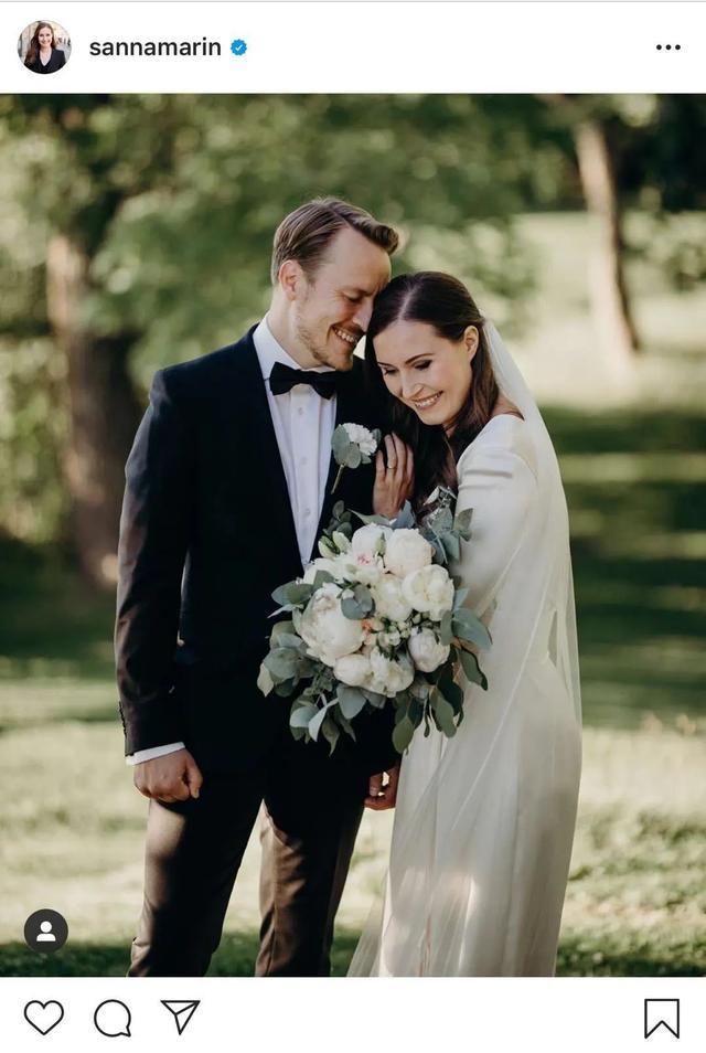 芬兰女总理与相恋16年男友结婚  有一个两岁半的可爱女儿